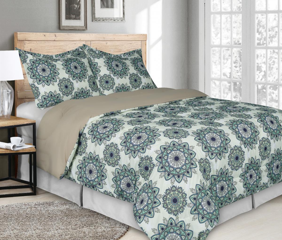 Printed 3 Pieces Comforter Set Hong Amp Arts Inc